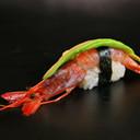 Nighiri raw shrimp avocado 2 pieces