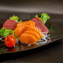 Sashimi Tuna and Salmon